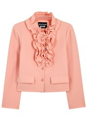Boutique Moschino Light Pink Ruffled Cropped Jacket