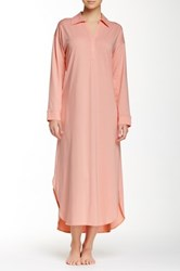 Natori Pima Paradise Long Sleeve Gown Pink
