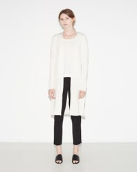 3.1 Phillip Lim Long Rib Cardigan White