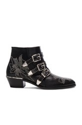 Chloe Susanna Leather Studded Booties In Black