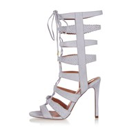 River Island Womens Light Blue Strappy Tie Up Heels