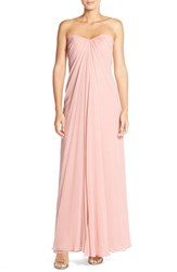 Women's Dessy Collection Sweetheart Neck Strapless Chiffon Gown Blush