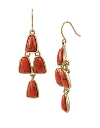 Kenneth Cole Coral Canyon Coral Chandelier Earrings Red