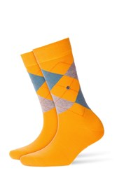 Burlington Printed Virgin Wool Ankle Socks Yellow