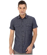Mavi Jeans Short Sleeve Button Down Shirt Total Eclipse Men's Clothing Navy