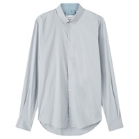 Jigsaw Stretch Poplin Shirt Dusky Blue