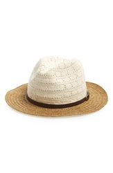 San Diego Hat 'Lace Crown' Braided Paper Straw Fedora Natural