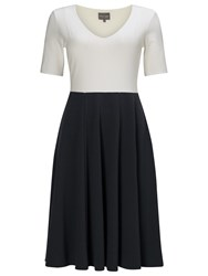 Phase Eight Colour Block Ponte Dress Grey Ivory