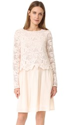 See By Chloe Lace Long Sleeve Dress Powder