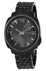 Vince Camuto Textured Bezel Bracelet Watch 44Mm Black