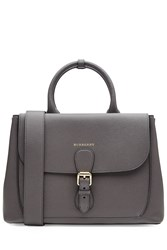 Burberry Shoes And Accessories Sabble Leather Tote Grey