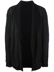 Salvatore Santoro Coated Shawl Lapel Jacket Black
