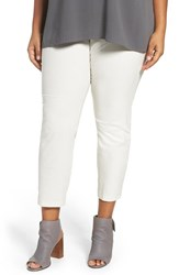 Eileen Fisher Plus Size Women's Slim Ankle Pants Bone