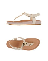 Aerin Footwear Thong Sandals Women Ivory