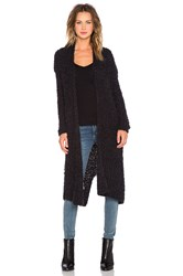 Line And Dot Jeanne Long Cardigan Black