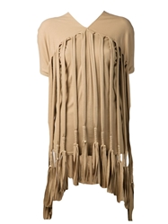Junya Watanabe Comme Des Garcons Long Fringe Blouse Nude And Neutrals