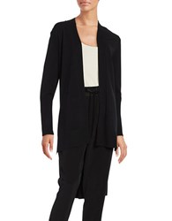 Dkny Shawl Collar Long Cardigan Black