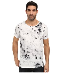 Hugo Durn Short Sleeve Crew Splotch Dye White Men's Clothing