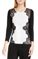 Vince Camuto Women's Side Lace Trim Sweater
