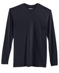 Alfani Men's Big And Tall Long Sleeve V Neck T Shirt Only At Macy's Deep Black