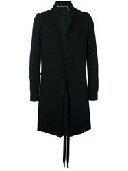 Cedric Jacquemyn Long Twin Split Blazer Black