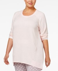 Alfani Plus Size High Low Pajama Tunic Only At Macy's Pink Heather
