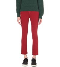 Closed Rose Bootcut High Rise Jeans Red Brick