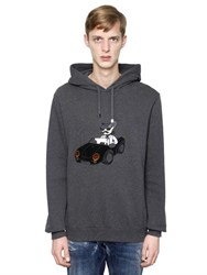 Dolce And Gabbana Hooded Cowboy Patch Cotton Sweatshirt