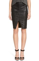 Joe's Jeans Women's Joe's Notch Front Leather Skirt Black