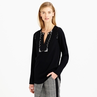 J.Crew Collection Jeweled Satin Top