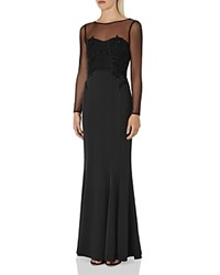 Reiss Lys Embellished Gown Black