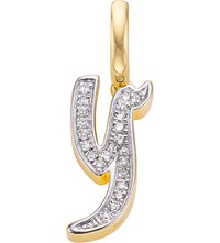 Monica Vinader Alphabet 18Ct Gold Vermeil And Diamond Pendant