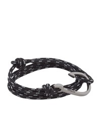 Miansai Rope Wrap Hook Bracelet Unisex Black