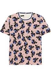 Mother Of Pearl Paget Floral Print Silk Crepe Top Pink