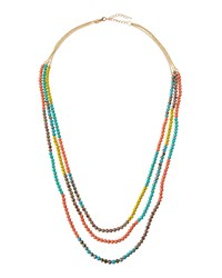 Emily And Ashley Greenbeads By Emily And Ashley Long Triple Strand Multicolor Beaded Necklace Women's