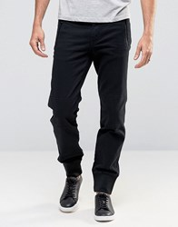 Cheap Monday Zip Cuffed Taper Chino Black Black