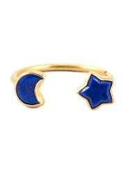 Marie Helene De Taillac Moon And Star Ring Blue