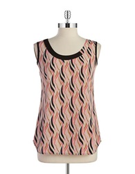 Anne Klein Patterend Shell Pink Multi