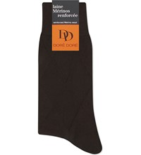 Dore Dore Harlequin Merino Wool Socks Chocolate