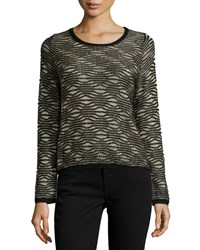 Parker Bellerose Long Sleeve Metallic Sweater Black