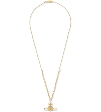 Vivienne Westwood Safety Pin Orb Necklace Crystal Arum