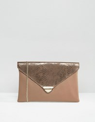 Lavand Envelop Clutch Bag Brown