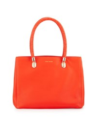 Cole Haan Benson Large Leather Tote Bag Citrus Red