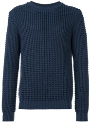 Tomorrowland Cable Knit Jumper Blue