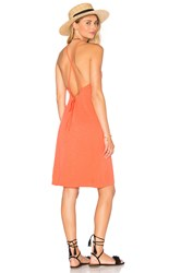 Lanston Lace Back Slip Dress Coral