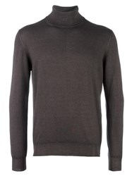 La Fileria For D'aniello Turtleneck Fine Knit Jumper Brown