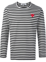Comme Des Garcons Play Red Heard Detail T Shirt Black