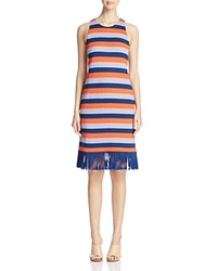 Tory Burch Ariana Stripe Tank Dress Red Canyon Colorblock Stripe