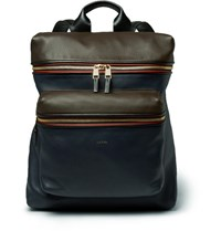 Paul Smith Panelled Leather Backpack Blue