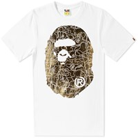 A Bathing Ape Foil Neon Camo Big Head Tee White
